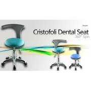 Cristofoli®歯科用360°回る上昇式ドクターチェア 医師用椅子 Simpler