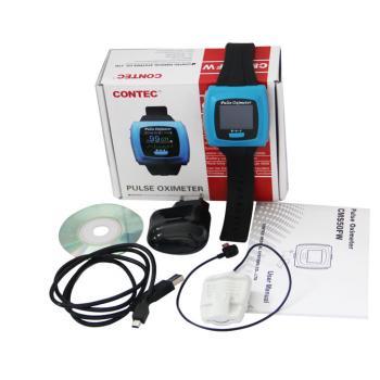 CONTEC®手首式パルスオキシメーター(血中酸素濃度計・脈拍計・カラーディスプレイ)CMS50FW(ブルートゥース付き)